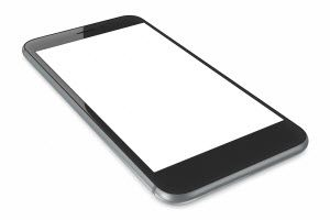 blank cell phone screen